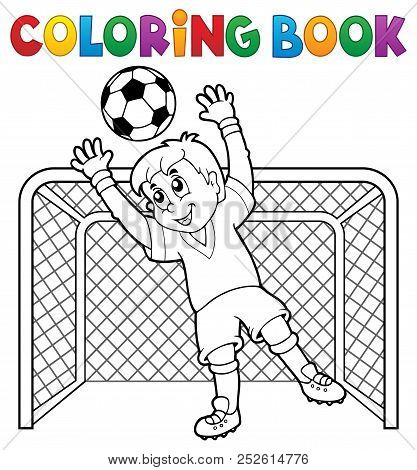 Coloring Book Soccer Theme 2 - Eps10 Vector Picture Illustration.