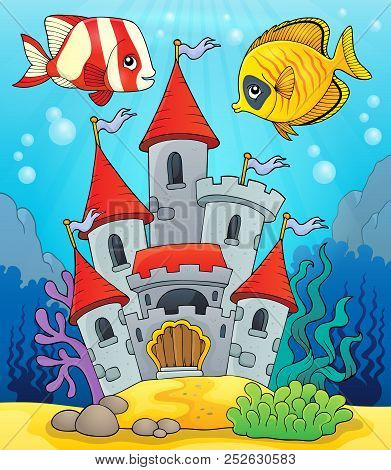 Underwater Castle Theme 2 - Eps10 Vector Picture Illustration.