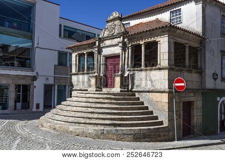 Sabugal, Portugal - June 15, 2018:  Remains Of The Former Britos Manor (casa Dos Britos), A 17th Cen