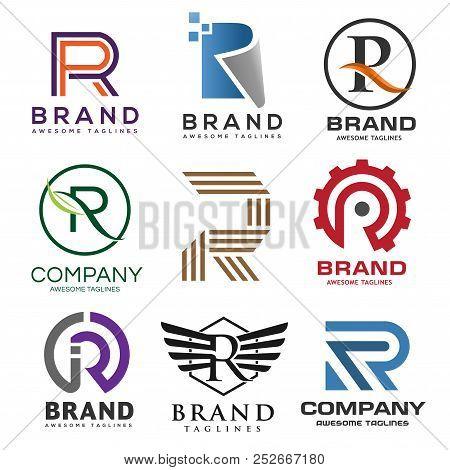 creative letter r logobest letter r logo design set abstract business logo design