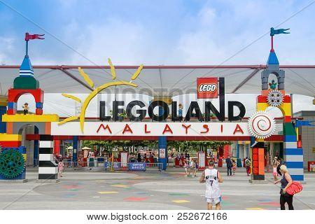 Johor Bahru, Malaysia -april 10, 2017-   Legoland Malaysia Was The First International Amusement Par
