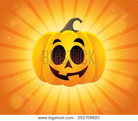 Halloween Pumpkin Topic Image 1 - Eps10 Vector Picture Illustration.