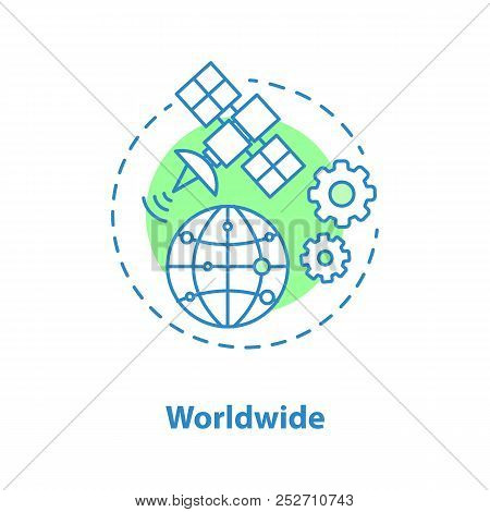 Worldwide Access Concept Icon. Www Idea Thin Line Illustration. Vector Isolated Outline Drawing