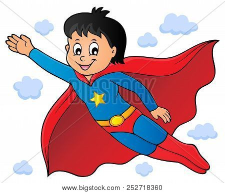Super Hero Boy Theme Image 1 - Eps10 Vector Picture Illustration.