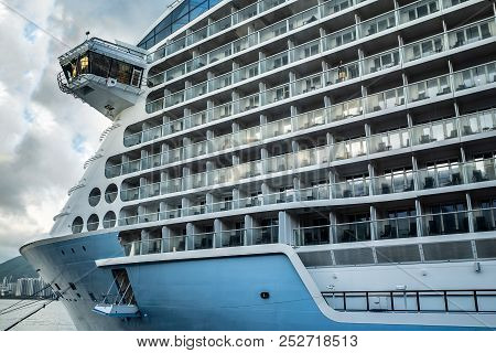 Luxury Cruise Ship. Cruise Port, Docking Cruise Ships