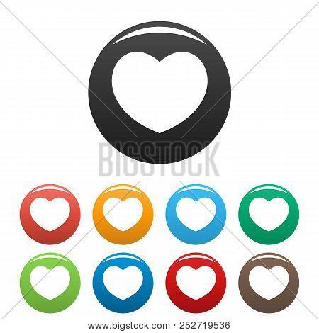 Sympathetic Heart Icon. Simple Illustration Of Sympathetic Heart Icons Set Color Isolated On White