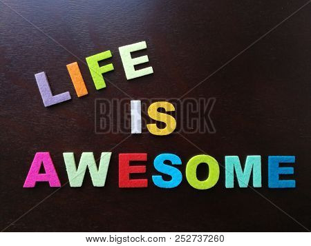 Life is awesome, in colorful wording