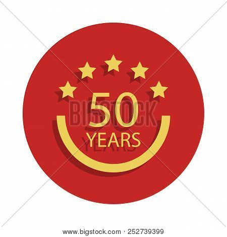 50 Years Anniversary Sign. Element Of Anniversary Sign. Premium Quality Graphic Design Icon In Badge
