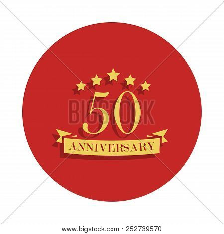 50 Anniversary Sign. Element Of Anniversary Sign. Premium Quality Graphic Design Icon In Badge Style