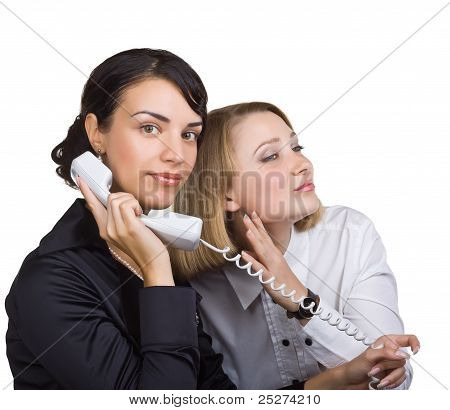 A Woman Overhears A Phone Conversation With Another Woman