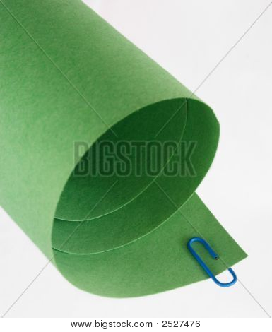 Green Rolled Paper Abstract