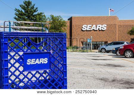 Mishawaka - Circa August 2018: Sears Retail Mall Location. Sears Is A Subsidiary Of Sears Holdings V