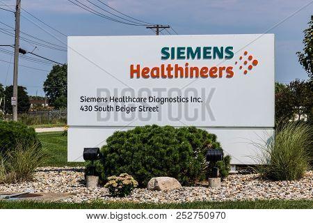 Mishawaka - Circa August 2018: Siemens Healthineers Manufacturing Plant. Siemens Is One Of The Large