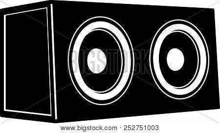Car Audio. Subwoofer Speakers. Audio Equipment. Vector Illustration
