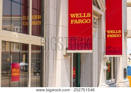 Peru - Circa August 2018: A Wells Fargo Retail Bank Branch. Wells Fargo May Have Accidentally Forecl