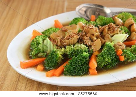 Mixed Vegetables In Asian Oyster Sauce
