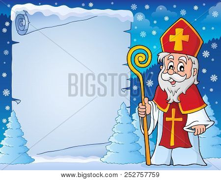 Parchment With Sinterklaas Theme 6 - Eps10 Vector Picture Illustration.