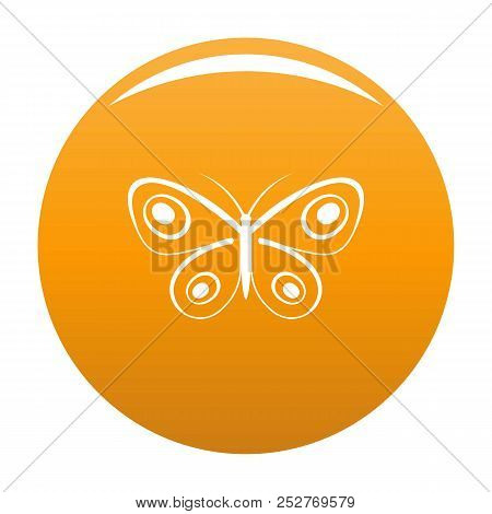 Tiny Butterfly Icon. Simple Illustration Of Tiny Butterfly Icon For Any Design Orange