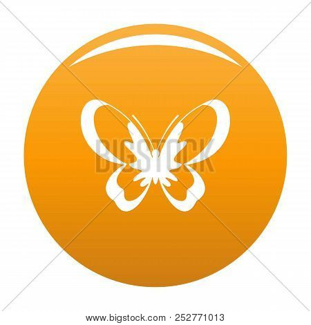 Unknown Butterfly Icon. Simple Illustration Of Unknown Butterfly Icon For Any Design Orange