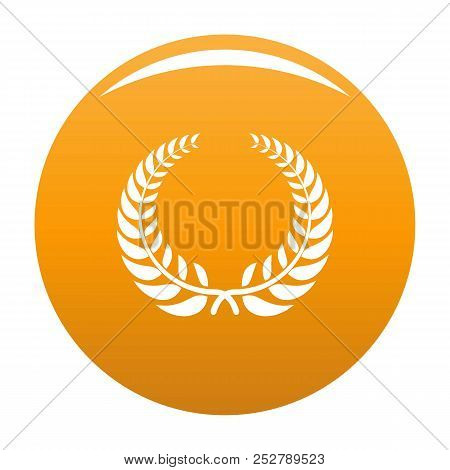 Victory Wreath Icon. Simple Illustration Of Victory Wreath Icon For Any Design Orange