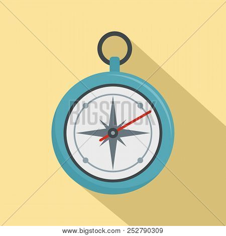 Compass Icon. Flat Illustration Of Compass Icon For Web Design