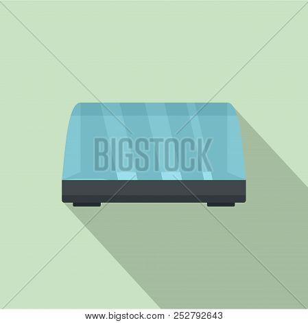 Commercial Fridge Icon. Flat Illustration Of Commercial Fridge Icon For Web Design