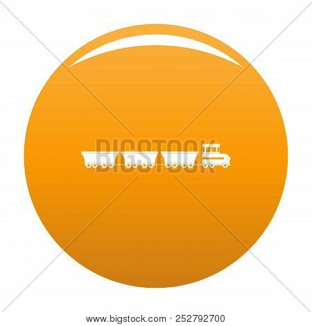 Commercial Train Icon. Simple Illustration Of Commercial Train Icon For Any Design Orange