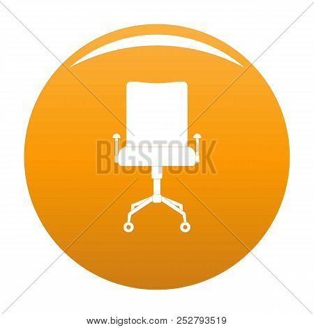 Leather Chair Icon. Simple Illustration Of Leather Chair Icon For Any Design Orange