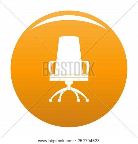 Director Chair Icon. Simple Illustration Of Director Chair Icon For Any Design Orange