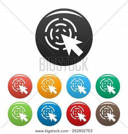 Cursor Interactive Icon. Simple Illustration Of Cursor Interactive Icons Set Color Isolated On White