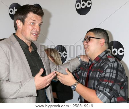 LOS ANGELES - AUG 7:  Nathan Fillion, Rico Rodriguez at the ABC TCA Party- Summer 2018 at the Beverly Hilton Hotel on August 7, 2018 in Beverly Hills, CA