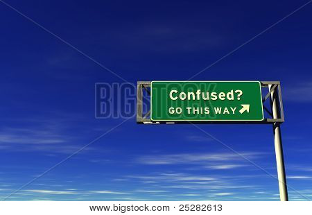 Confused - Freeway Exit Sign
