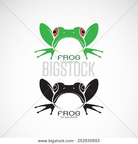 Vector Of Green Frogs And Black Frog On White Background. Amphibian. Animal. Frog Icon. Easy Editabl