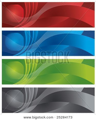 Globe And Halftone Banners.eps