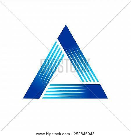 Fast Pyramid Blue Symbol Logo Graphic Design