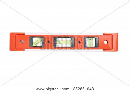 Spirit Level Tool Isolated On White Background With Clipping Path.