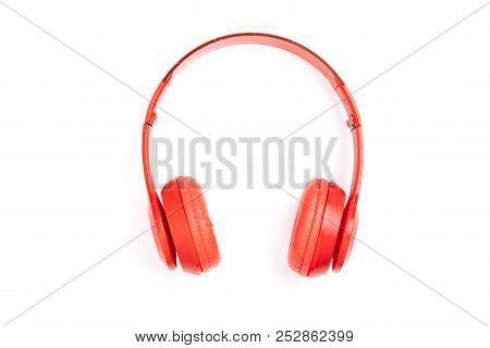 Headphone Isolated On White Background.