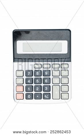 Business Calculator Isolated On White Background With Clipping Path