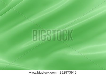 Smooth Elegant Shiny Green Silk Or Satin Luxury Cloth Texture Can Use As Abstract Holidays Backgroun