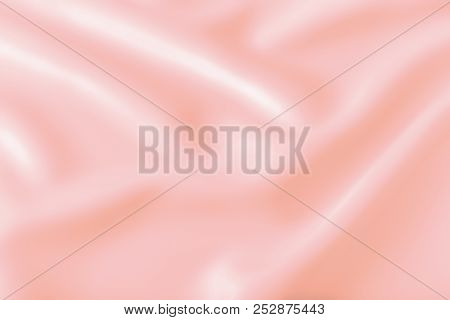 Smooth Elegant Shiny Pink Silk Or Satin Luxury Cloth Texture Can Use As Abstract Holidays Background