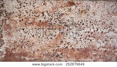 Metal Surface Rusty And Coarse, Background Or Texture