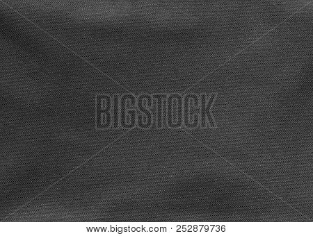 Texture Of Black Fabric As A Background.