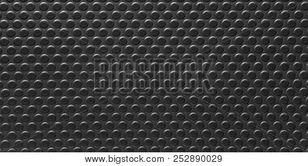 Black Leather Texture Background Surface. Close Up