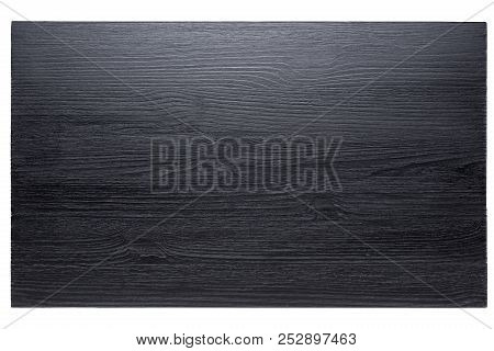 Black Board For Feeding Products With Beautiful Texture, Cutting Board On White Background, Isolate,