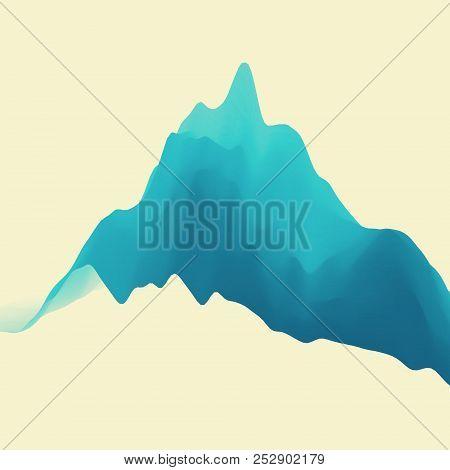 Mountain Landscape. Mountainous Terrain. Vector Illustration For Banner, Flyer, Book Cover, Poster.