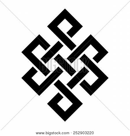 Guts of Buddha, or The bowels of Buddha (The Endless knot, or Eternal knot, happiness node) - symbol of inseparability and dependent origination of existence and all phenomena in Universe. poster