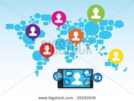 Connect & Share Social Media Network throughout the World