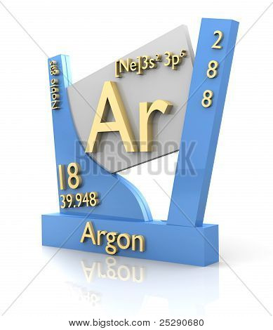 Argon Form Periodic Table Of Elements - V2