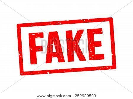 Vector Illustration Fake Stamp Grunge Rubber Sign. Fake Seal Stamp Background Isolated