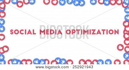 May 01, 2018: Social Media Optimization. Social Media Icons In Abstract Shape Background With Scatte